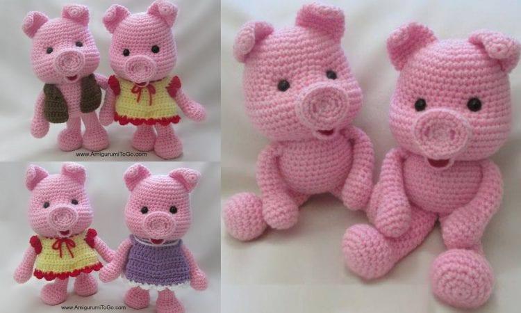 Dress Up Pigs Free Crochet Pattern