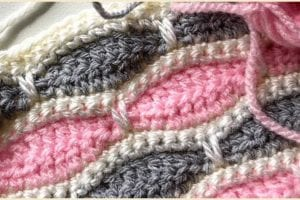 Millsstone stitch for Bertie Baby Blanket Free Crochet Pattern and Video Tutorial