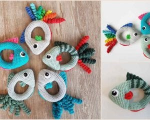 Fish Rattle Free Crochet Pattern