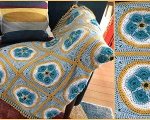 Forget Me Not Afghan Free Crochet Pattern and Video Tutorial