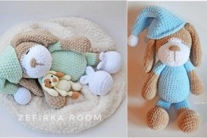 Sleeping Dog Amigurumi Free Crochet Pattern