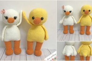 Amigurumi cute ducks free crochet pattern