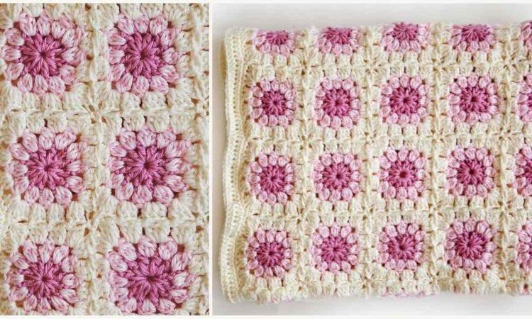 Bloom Afghan Free Crochet Pattern