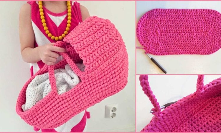 Doll's Carry Basket Free Crochet Pattern