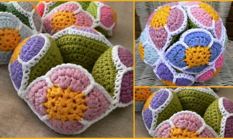 Flower Amish Puzzle Ball Free Crochet Pattern