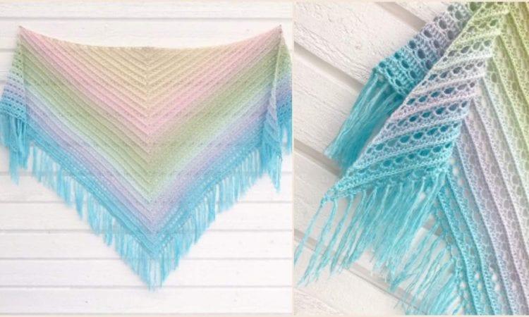 Midnight Walk Shawl Free Crochet Pattern