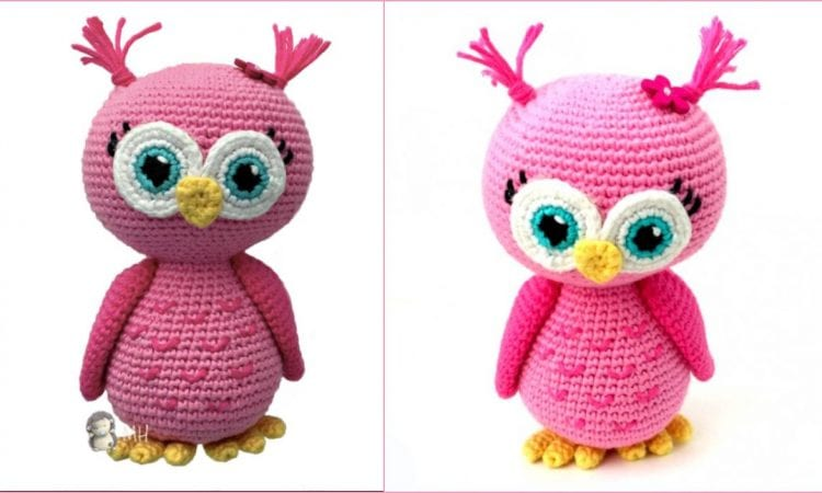 Pink Owl Amigurumi Free Crochet Pattern
