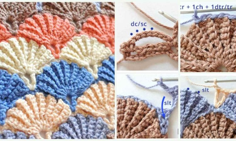 The Truly Shell Stitch Free Crochet Pattern and Tutorial