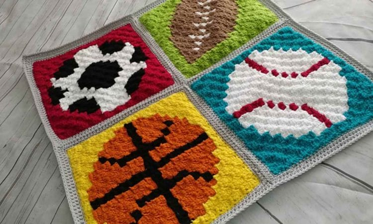 Sports Baby Blanket Free Crochet Pattern Your Crochet