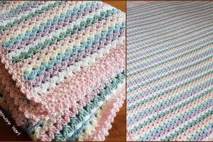 Sweetheart Baby Blanket Free Crochet Pattern and Tutorial