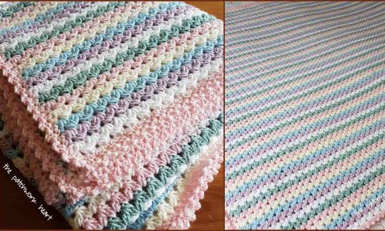Sweetheart Baby Blanket Free Crochet Pattern and Tutorial