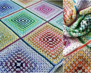 The Paintbox Blanket Free Crochet Pattern