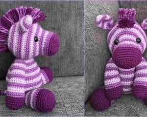 Zane the Zebra Free Crochet Pattern