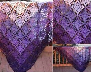 Gypsy Queen Shawl Free Crochet Pattern