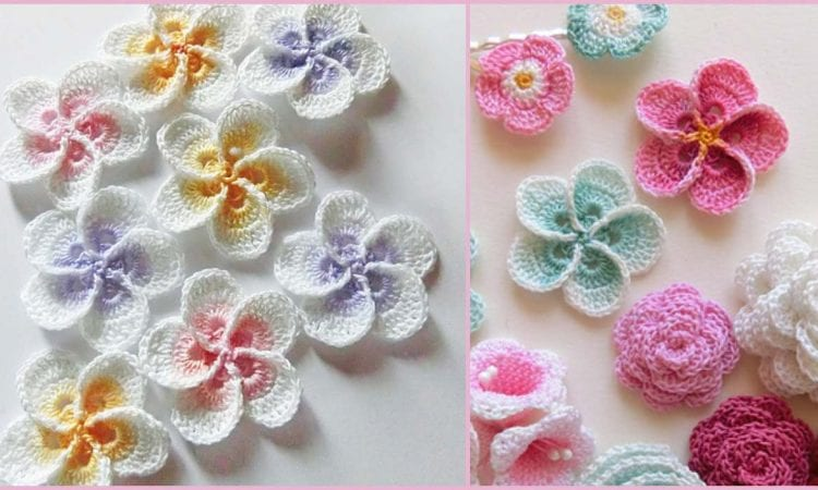 Hawaiian Plumeria Flowers Crochet Pattern