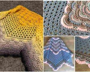 Mimosa Shawl Free Crochet Pattern