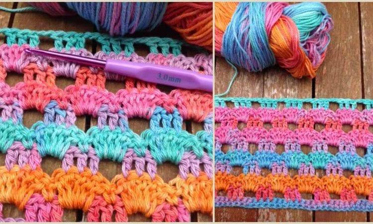 Perforated Wrap Shawl Free Crochet Pattern