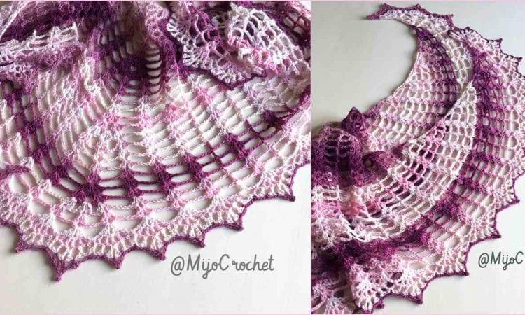 Wild Wheat Shawl Free Crochet Pattern