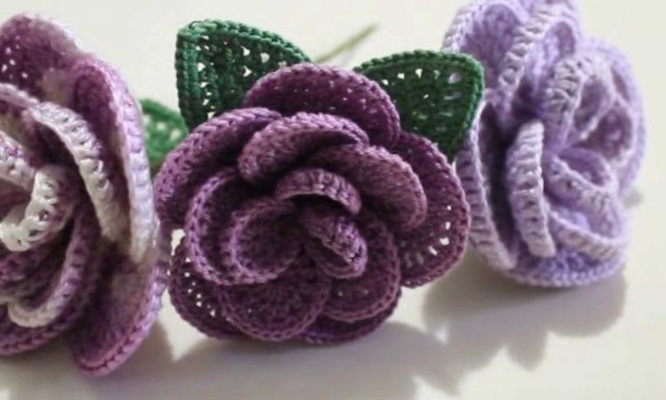 Crochet Roses Free Pattern