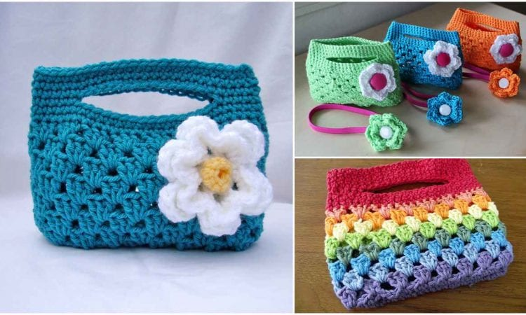 Granny Stripe Boutique Crochet Bag Free Pattern