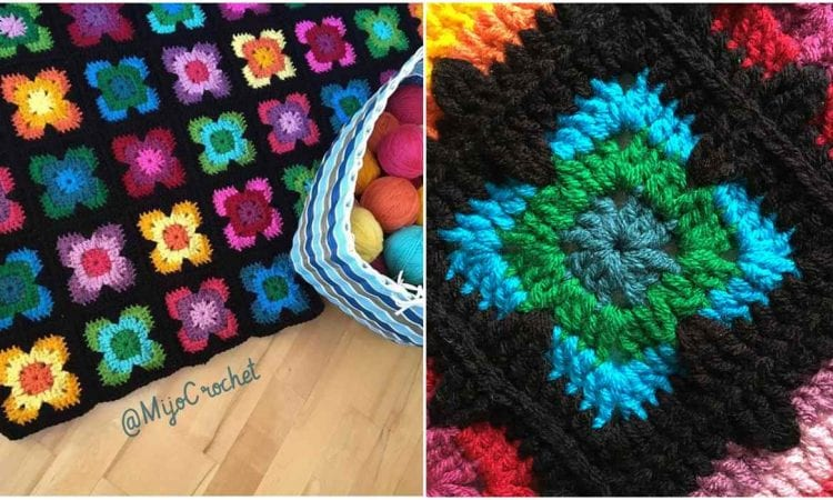 Retro Vibe Square Free Crochet Pattern