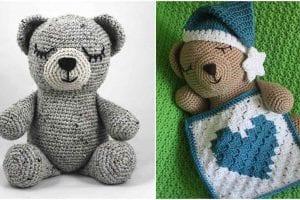 Sleepy Bear Free Crochet Pattern