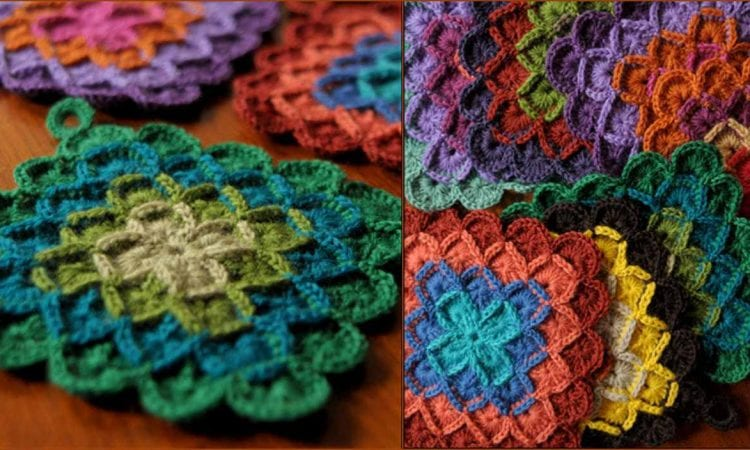 Swap potholders free crochet pattern
