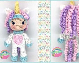 Unicorn Girl Cal Free Crochet Pattern Amigurumi