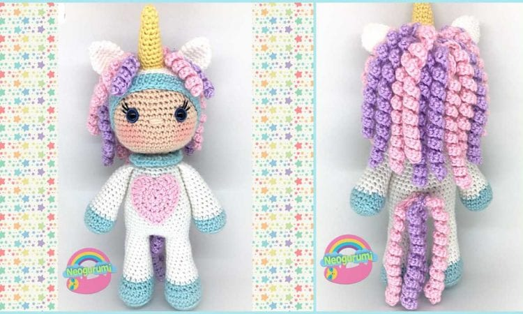 Unicorn Girl Cal Free Crochet Pattern Amigurumi