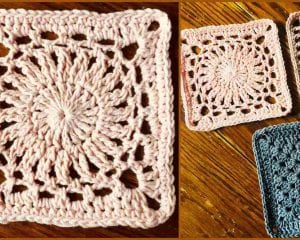 Weeping Willow Square Free Crochet Pattern