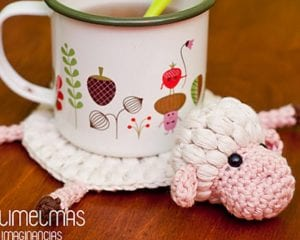 Amelia the Sheep Coaster Free Crochet Pattern
