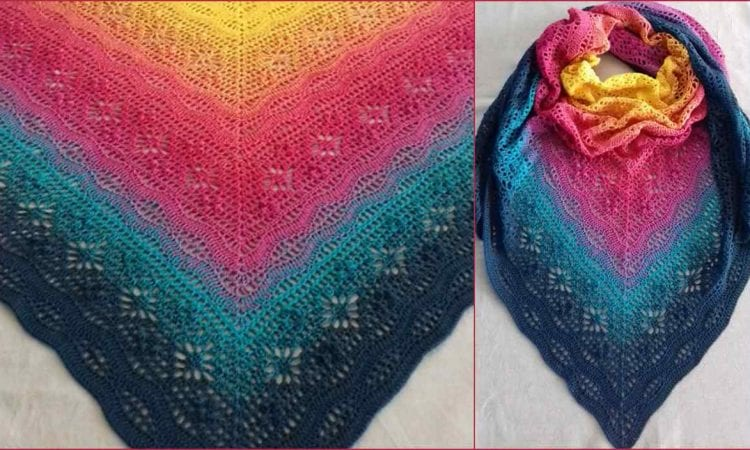 Daisy Chain Shawl Free Crochet Pattern