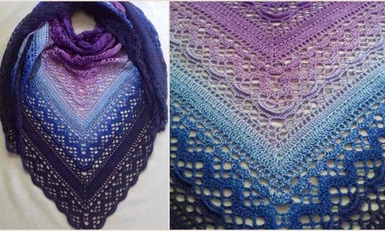 Klaziena Shawl Free Crochet Pattern