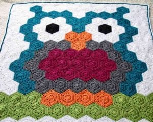 Night Owl Hexagon Blanket