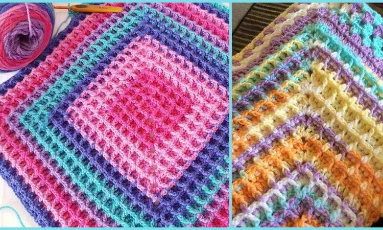 Raised Squared Waffle Free Crochet Pattern