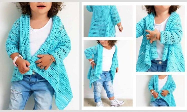Blue Sky Cardi Free Crochet Pattern