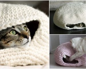 Nest for Cats Free Crochet Pattern