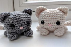 Cube Kitty Cat Amigurumi Free Crochet Pattern