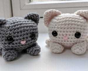 Cube Kitty Cat Amigurumi Free Crochet Pattern