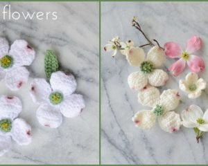 Dogwood Flowers Free Crochet Pattern