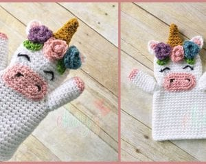 Unicorn Hand Puppet Free Crochet Pattern