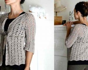 Chevron Lace Cardigan Free Crochet Pattern