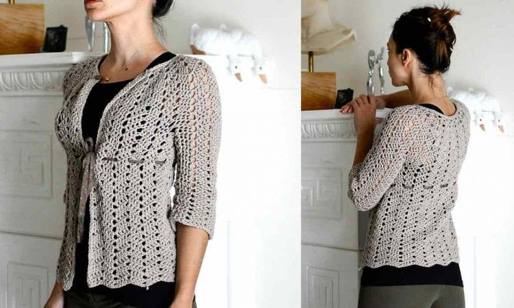 Chevron Lace Cardigan Free Crochet Pattern Your Crochet