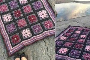 Autumn Aster Blanket Free Crochet Pattern