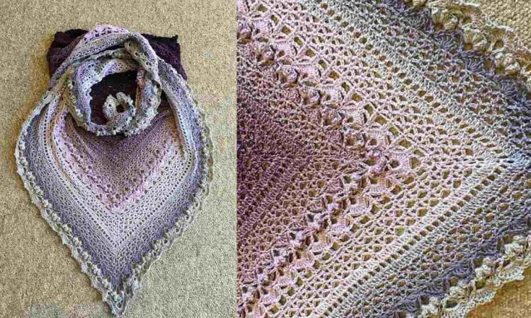 Cockles of my heart shawl free crochet pattern