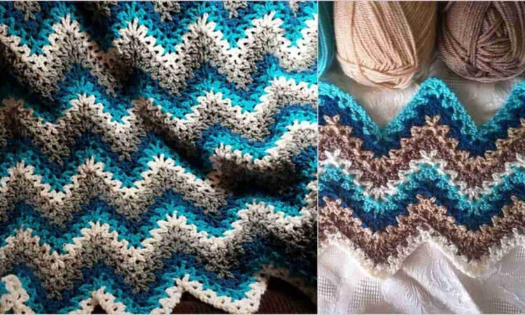 V Stitch Ripple Afghan Free Crochet Pattern Your Crochet
