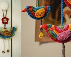 Birdie Decorations Free Crochet Pattern