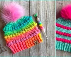 Bubblegum Pop Beanie Free Crochet Pattern