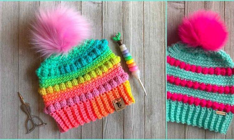Bubblegum Pop Beanie Free Crochet Pattern
