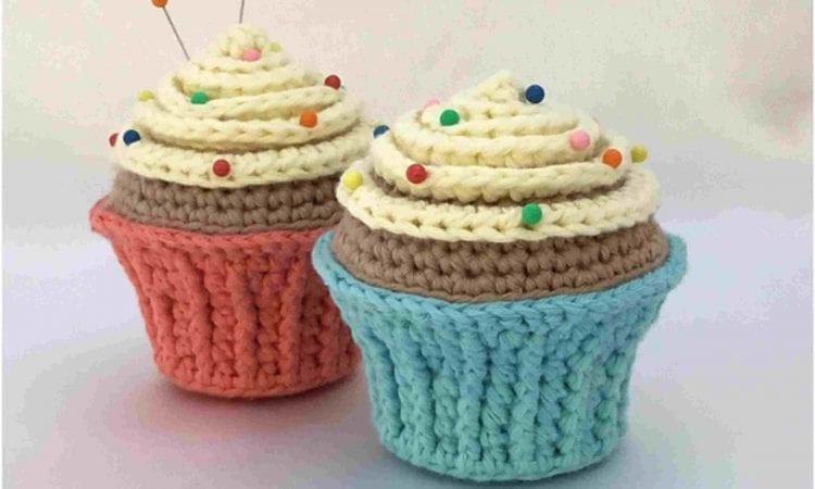 Cupcake Pin Cushion Free Crochet Pattern
